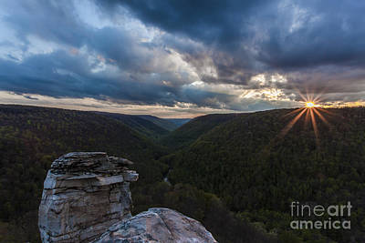 Sunset At Blackwater Falls State Park Poster