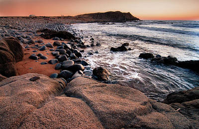 Poster featuring the photograph Sunset At Capo Pecora - Sardinia by Laura Melis