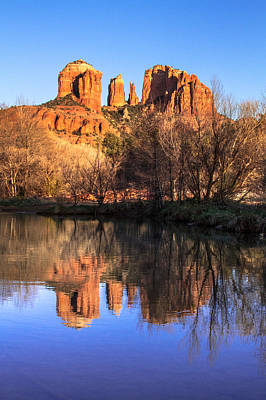 Sunset At Cathedral Rock In Sedona Az Poster by Teri Virbickis