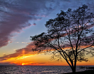 Sunset At Chesapeake Beach Poster
