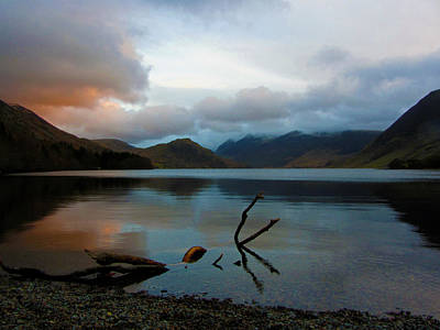 Sunset At Crummock Water Poster by Chris Whittle