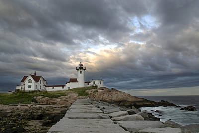 Sunset At Eastern Point Lighthouse Poster