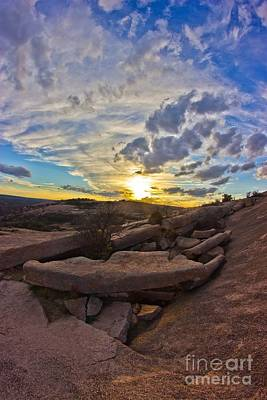 Sunset At Enchanted Rock State Natural Area Poster