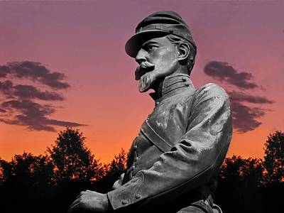 Sunset At Gettysburg  Poster