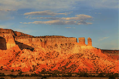 Poster featuring the photograph Sunset At Ghost Ranch by Alan Vance Ley