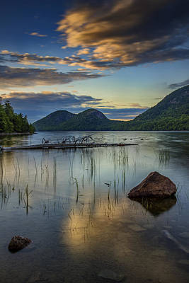 Sunset At Jordan Pond Poster
