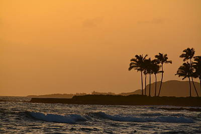 Sunset At Koloa Poster by P S