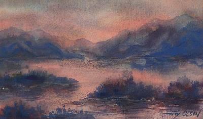 Sunset At Lake Champlain Poster by Joy Nichols