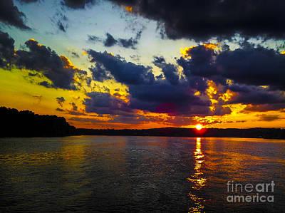 Sunset At Lake Logan Martin Poster