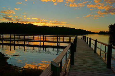 Poster featuring the photograph Sunset At Lake Mcintosh by Chris Fraser