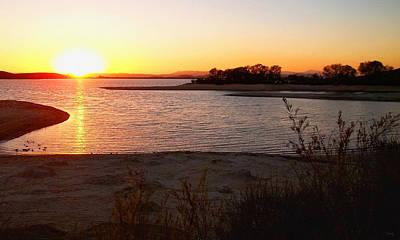 Sunset At Lake Skinner Poster by Glenn McCarthy