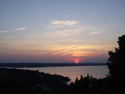 Sunset At Lake Travis Poster by Cindy Croal