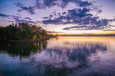 Sunset At Lake Wylie Poster by Alex Grichenko