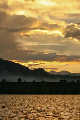 Smokey Sunset At Marshall Lake Poster