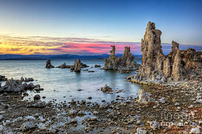 Sunset At Mono Lake Poster