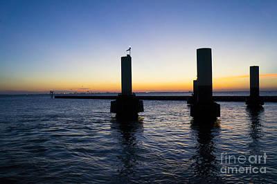 Sunset At Port Bolivar Poster