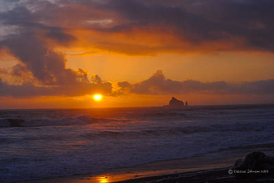Sunset At Rialto Poster