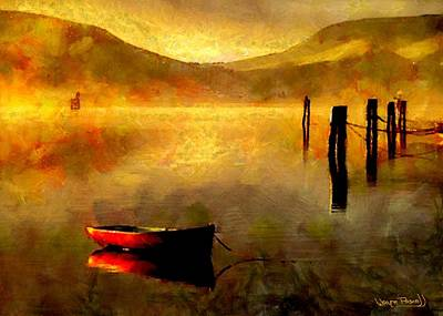 Sunset At The Bay Poster by Wayne Pascall