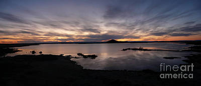 Sunset Over Lake Myvatn In Iceland Poster