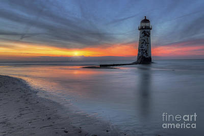 Sunset At The Lighthouse V3 Poster