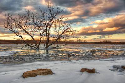Sunset At Walnut Lake Poster by Nikolyn McDonald