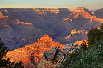 Poster featuring the photograph Sunset At Yaki Point by Alan Vance Ley