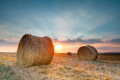 Sunset Bales Poster