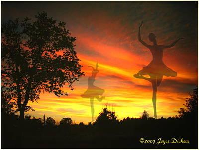 Sunset Ballerina Poster by Joyce Dickens
