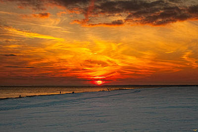 Poster featuring the photograph Sunset Beach New York by Chris Lord