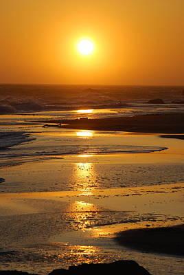 Sunset Beach Poster by Richard Hinger