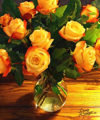 Sunset Bouquet Poster