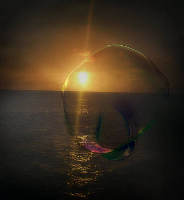 Sunset Bubble Poster