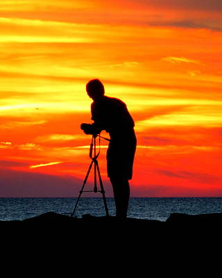 Sunset Capture Poster by Glenn McCurdy