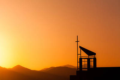 Sunset Cross Poster by Teri Virbickis