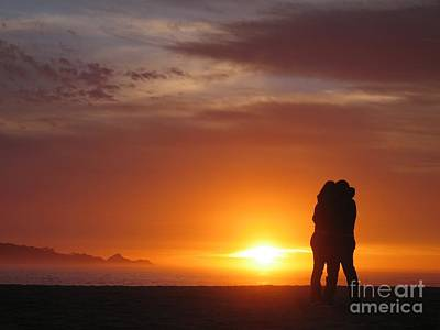Poster featuring the photograph Sunset Cuddle by James B Toy