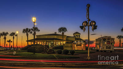 Poster featuring the photograph Sunset Diner by Paula Porterfield-Izzo