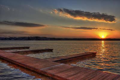 Sunset Docks On Lake Oconee Poster