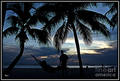 Sunset En El Caribe Poster by Agus Aldalur