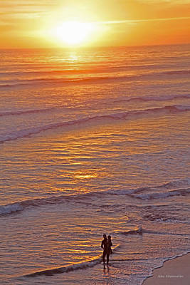 Sunset For Two - Metaphysical Energy Art Print Poster