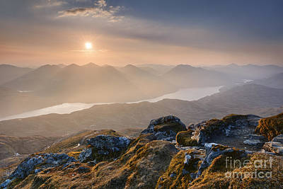 Sunset From Ben Lomond Poster by Rod McLean