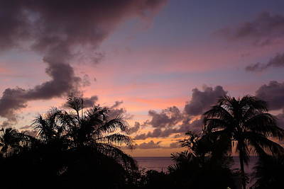 Sunset From Terrace 3 St. Lucia Poster by Nora Boghossian
