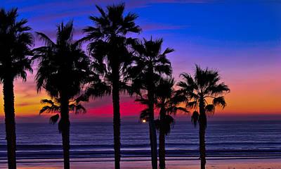 Sunset From The Ocean Park Inn Poster