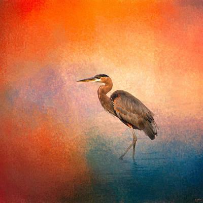 Sunset Heron Poster by Jai Johnson