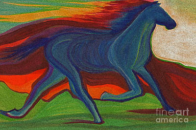 Sunset Horse By Jrr Poster