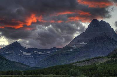 Sunset In Glacier Poster