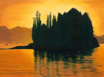 Sunset In Juneau Alaska Poster by Phillip Compton