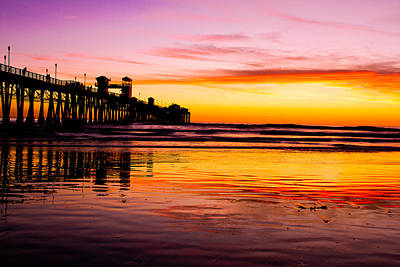 Sunset In Oceanside Poster