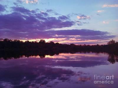 Sunset In Purple Poster by R McLellan