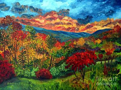Sunset In Shenandoah Valley Poster