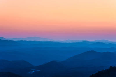 Sunset In The Smoky Mountains 1 Poster